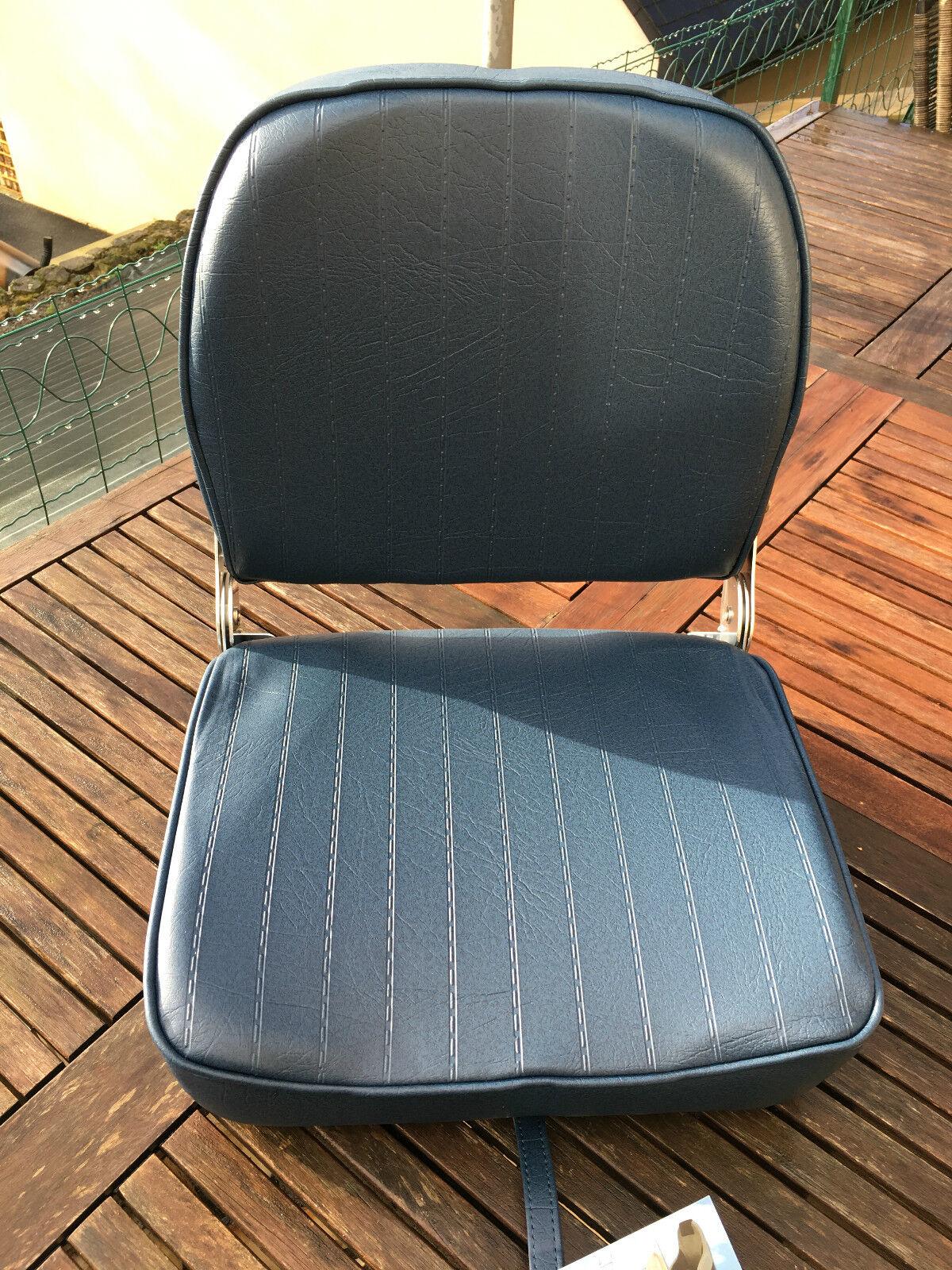 SEAT BOAT FOLDING IN LEATHERETTE blueE