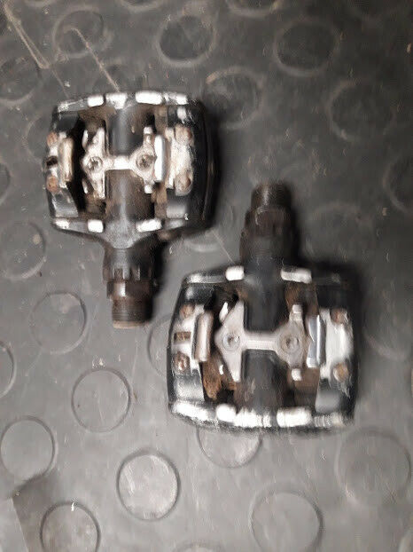 Original Shimano M737 Deore XT SPD clipless pedals MTB retro touring mk.1 SPuDs