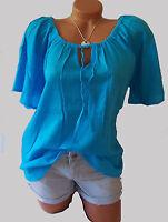 Crepe Bluse Tunika V. Sheego Gr. 48 50 52 Aqua Blau 415548 Neu Damenmode