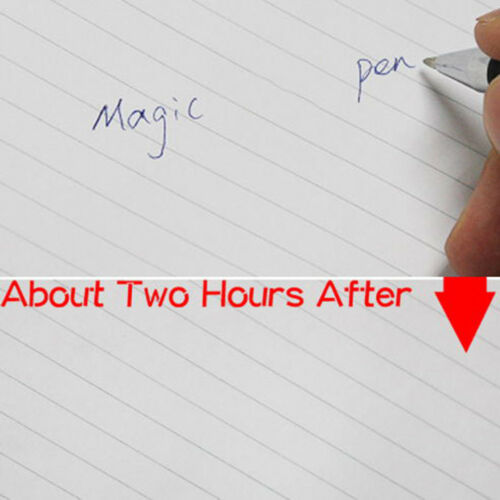 1set magic joke ball pen invisible slowly disappear ink within magic gift toR^m^