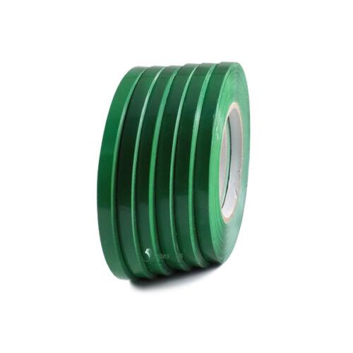 length 3//8 in wide x 180 yds 6 Rolls Dark Green Poly Bag Sealing Tape