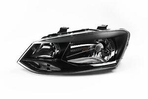 VW POLO 2009-2014 HEADLIGHT HEADLAMP BLACK TWIN REFLECTOR PASSENGER SIDE NEW