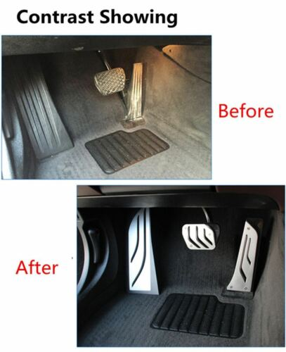 No Drill Sport Foot Rest Gas Brake AT Pedal Cover For BMW 5 6 7 Series Z4 X3 X4