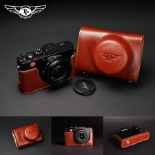 Handmade Genuine real Leather Half Camera Case bag cover for Leica X-E Typ 102 Leica X2 X1 Black color