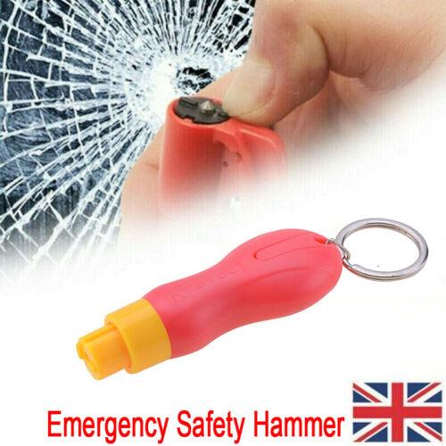 UK Emergency Safety Escape Hammer Car Window Glass Breaker Seat Belt Cutter Red
