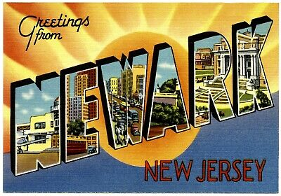 100 BULK LOT Magnet Greetings From  Magnet ASBURY PARK New Jersey 1930s to 1940s