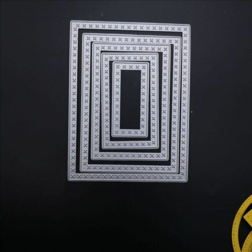 12.4x9.4cm 5-Piece Stitched Retangle Metal Cutting dies Die Template Making