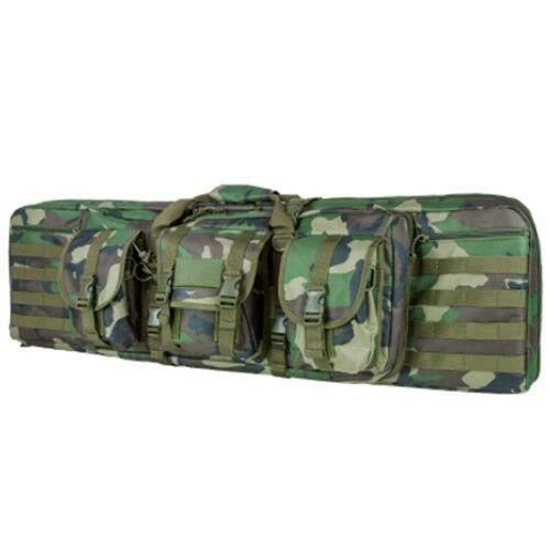 NcStar VISM Tactical 42  Woodland Camo Padded Double Carbine Rifle Gun Case Bag
