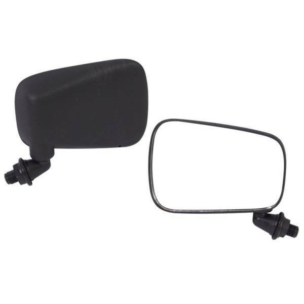 VW BUG DOOR SIDE MIRROR BRASILIA BEETLE 60-79 Black Plastic 2pcs Left Right T3