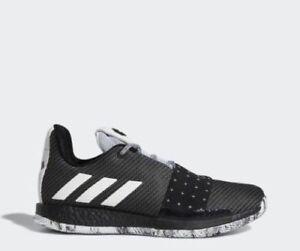 8b752dad320 New Adidas Men s Harden Vol 3 Basketball Shoes (BB7723) Black  White ...