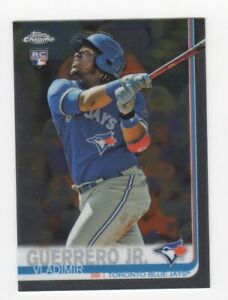 Details About 2019 Topps Chrome Mlb Vladimir Guerrero Jr Rookie Card Rc 201 Blue Jays