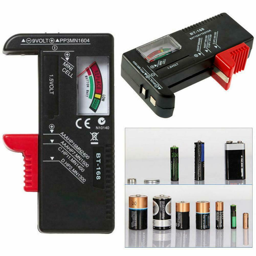 Portable Universal Battery Tester Tools AA AAA C D 9V Accessory Button x1 A Prof