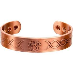 Adjustable-Magnetic-Antiqued-Copper-Bracelet-with-Tree-of-Life-Design