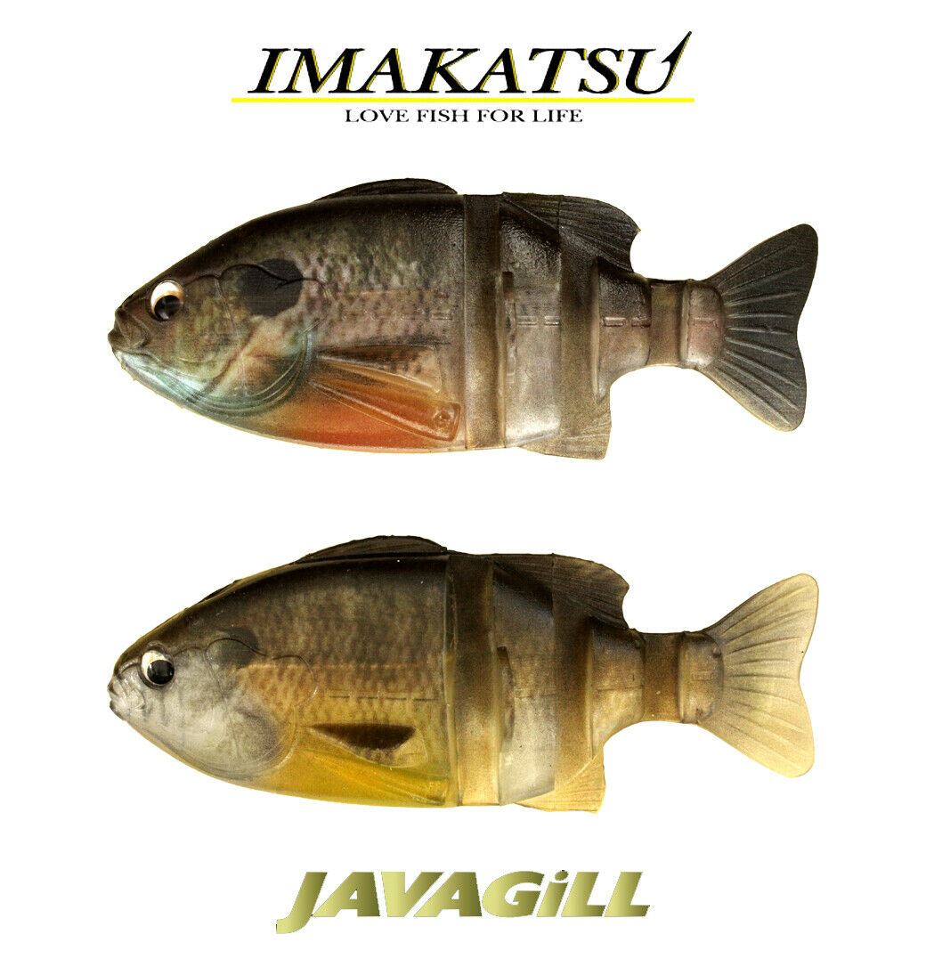 4 piece pack S-187 Imakatsu Soft Lure Java Gill 110 3D Realism 5798