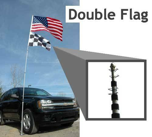 20' Telescoping Tailgate Flagpole and stand