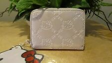NWT Loungefly Hello Kitty Embossed Zip-Around Faux Patent Leather Wallet - White