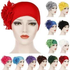 Women-Hair-Loss-Head-Scarf-Turban-Cap-Flower-Muslim-Cancer-Chemo-Hat-Cover-HS