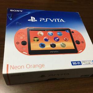 Sony-PlayStation-PS-Vita-Slim-NEON-ORANGE-Slim-PCH-2000-ZA24-Game-Console