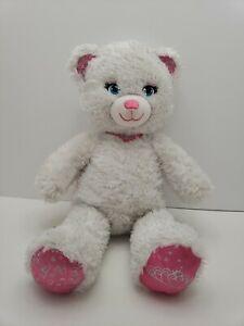 Build-a-Bear-Forever-Princess-Sparkle-White-Teddy-Pink-Silver-Plush-Bear-Crown