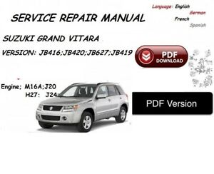 suzuki grand vitara service manual pdf version ebay rh ebay ie Suzuki Alto Suzuki Swift