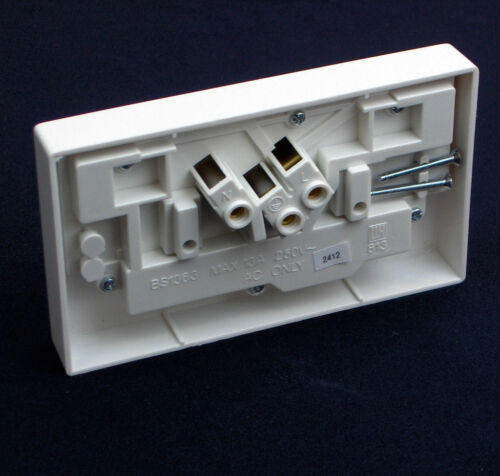 One Gang Mains Socket to Two Wall Sockets  Switched Converter Adapter