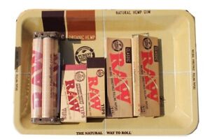 RAW-ROLLING-PAPER-COMBO-METALLIC-TRAY-PAPERS-TIPS-ROLLING-MACHINE