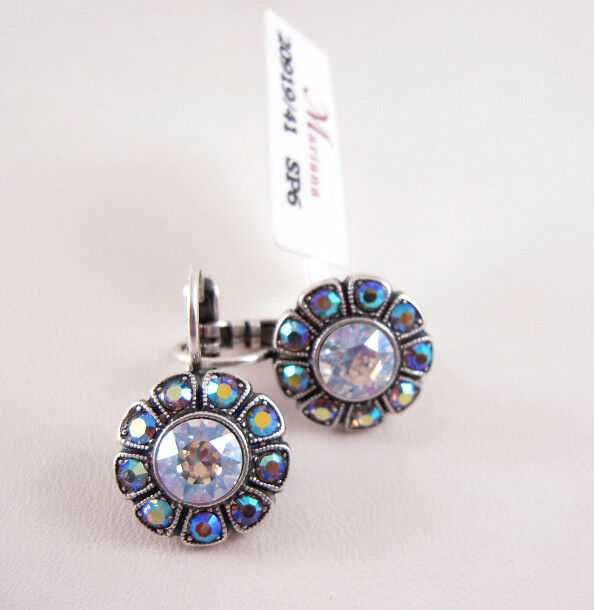 Mariana Swarovski Crystal Flower Earrings 1131-512 NWT