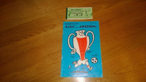 197172 Ajax v Arsenal European Cup + Match ticket