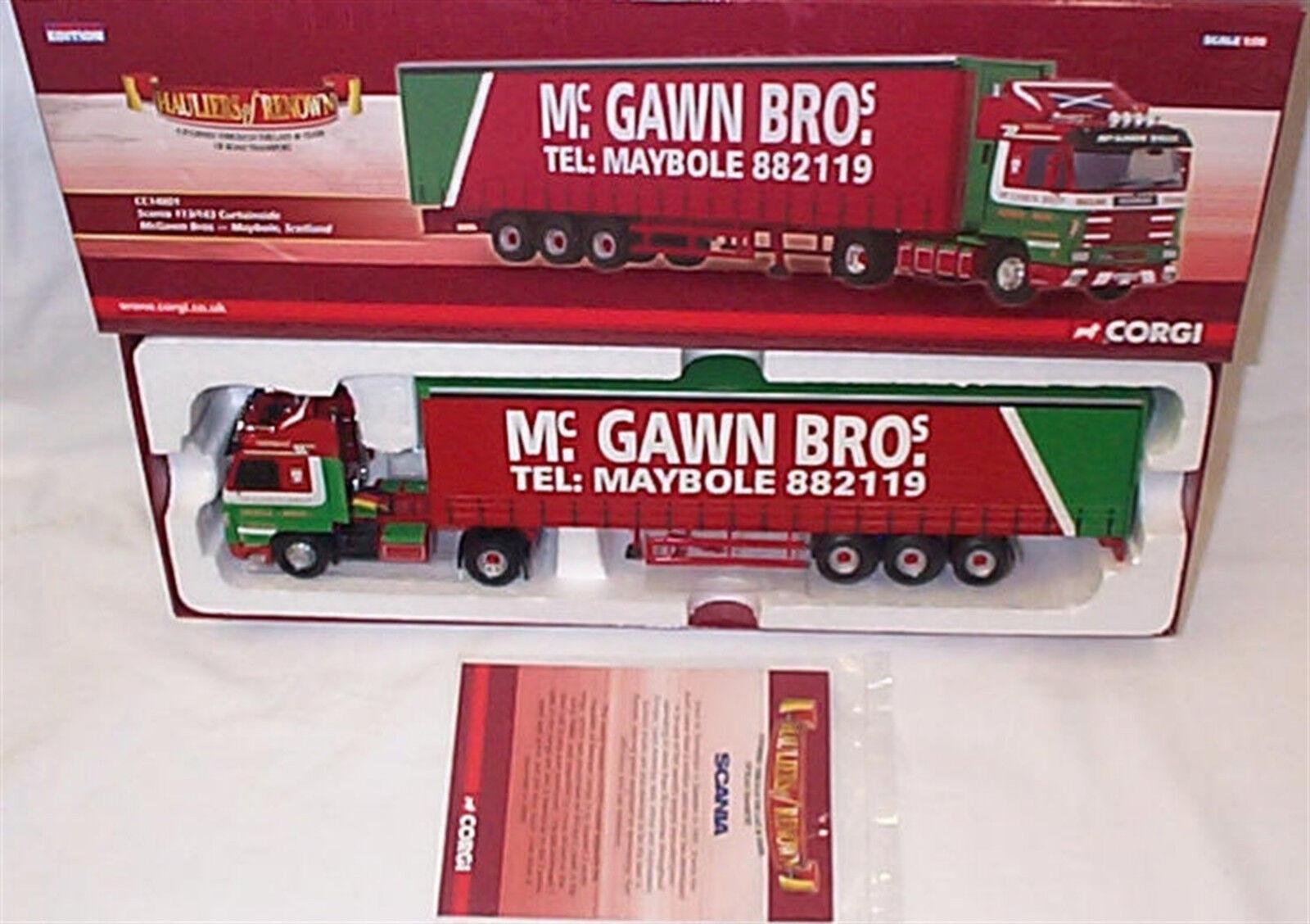 servicio considerado Scania 113 143 Curtainside mcgawn Bros CC14801 1-50 Nuevo Nuevo Nuevo En Caja Ltd Edition  solo cómpralo