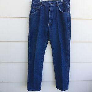 Wrangler-Premium-Quality-Denim-Regular-Fit-Jeans-Mens-Measures-34-X-32