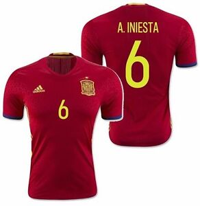 93320d0a8c9 ADIDAS SPAIN A. INIESTA EURO 2016 AUTHENTIC PLAYER HOME ADIZERO ...