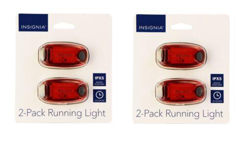 Insignia 2x Running Lights for Running//Walking//Biking 2 Pack of LED Red