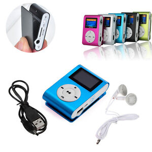 USB-MP3-Musica-auricular-ear-Clip-Reproductor-Mini-pantalla-LCD-Para-32GB