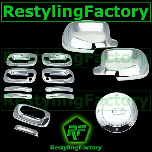 Chevy Silverado Chrome FULL Mirror+4 Door Handle+PSG KEYHOLE+Tailgate+Gas Cover