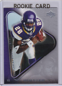 Details About Adrian Peterson Rookie Card 2007 Upper Deck Rc Premiere Football Vikings Star