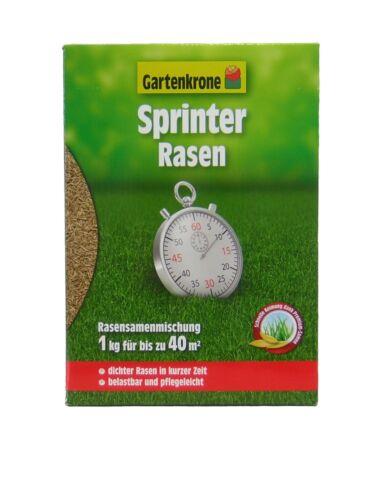 Gartenkrone Sprinter Rasen 1 kg für bis zu 40 m² Rasensamen