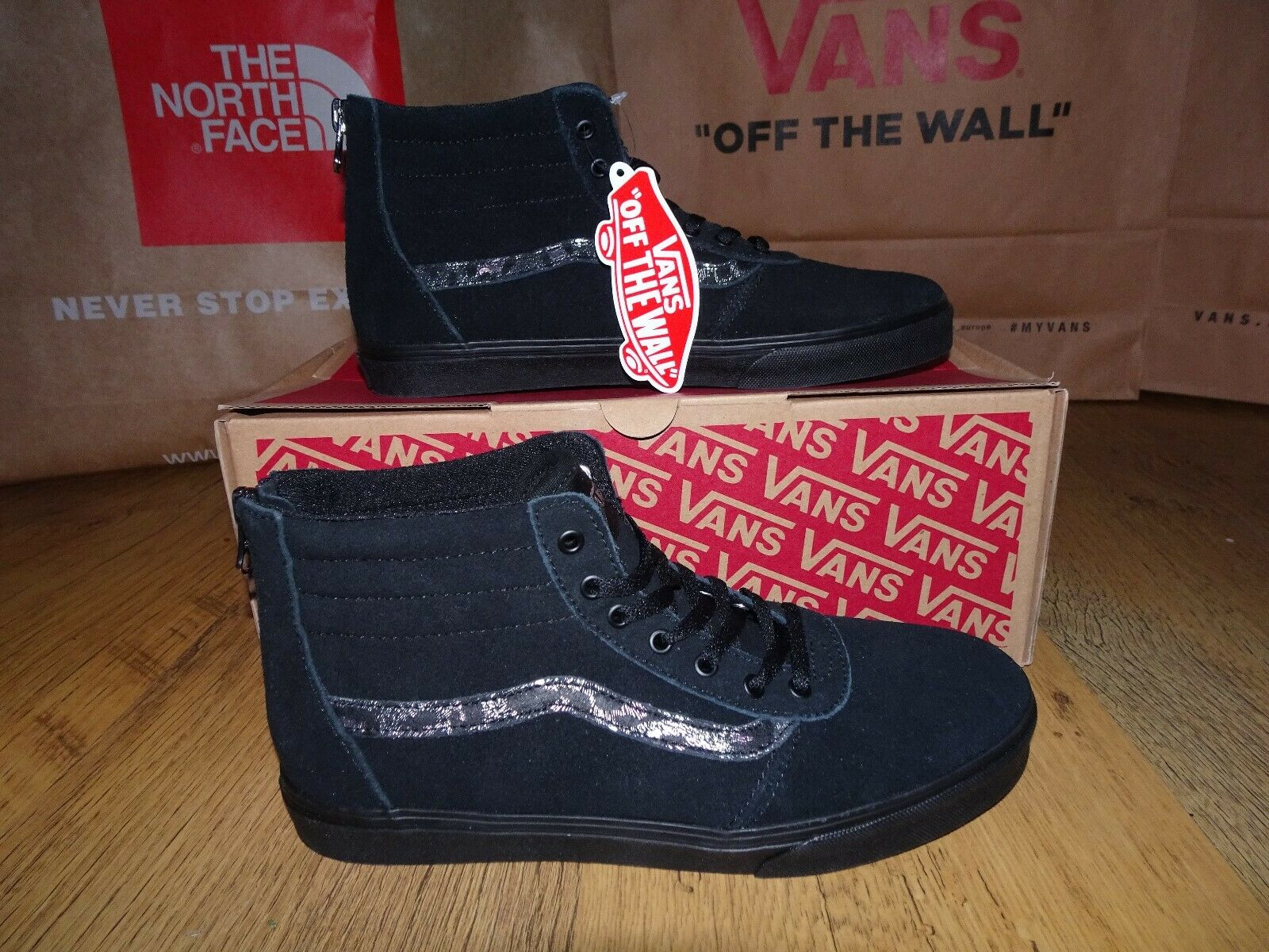Vans Black Cheetah MADDIE HI ZIP Trainers Trainers Trainers Size 3 UK BNIB More Sizes Available 3710da