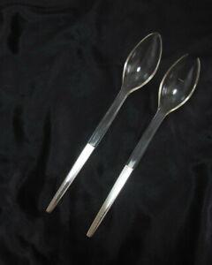 Salatbesteck-Griffende-925-SilberAcryl-elegantes-Design