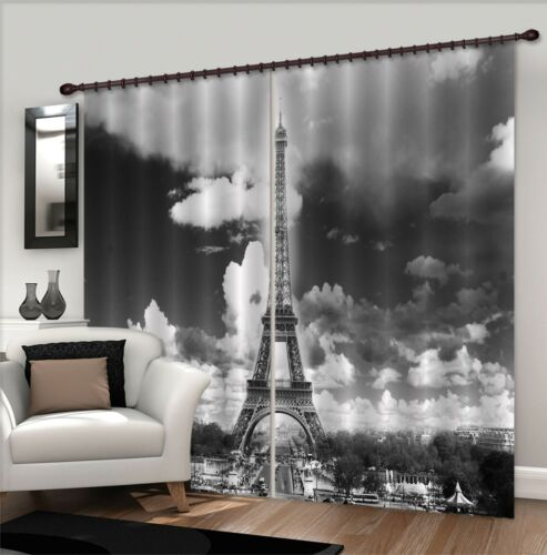 3D Gray tower 4 Blockout Photo Curtain Printing Curtains Drapes Fabric Window AU