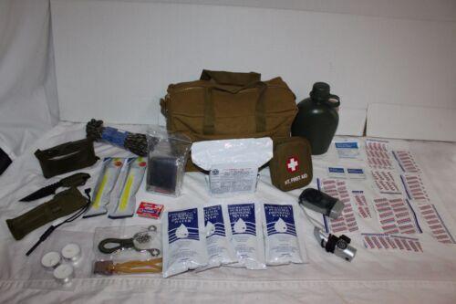 2 Jour d/'urgence Camping Militaire Armée Outdoor Kit De Survie Chasse Zombie 48 HR