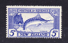 NEW ZEALAND 1936-42 5d WITH DOUBLE PRINT, ONE ALBINO SG 584ca MNH.