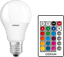 Classic A RGBW OSRAM LED Star and LED-lamp in bulb shape with E27 base 60