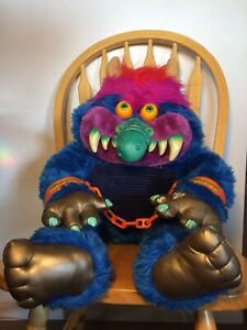 MY PET MONSTER 1985 American Greetings AmToy Inc. With Cuffs Vintage Stuffed Toy