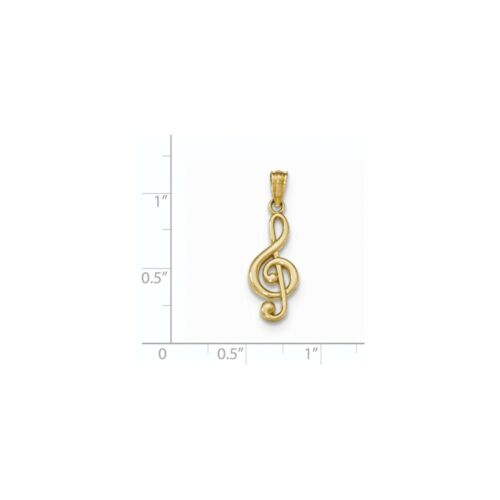 14K Yellow Gold Music Note Charm Pendant MSRP $130