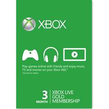 Xbox One XBOX 360 LIVE GOLD 3 Monate Mitgliedschaft Karte / Xbox 3 Monate Card