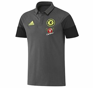 3945dae0 Image is loading Chelsea-Player-Polo-Shirt-Adidas-Official-Adults-Granite-