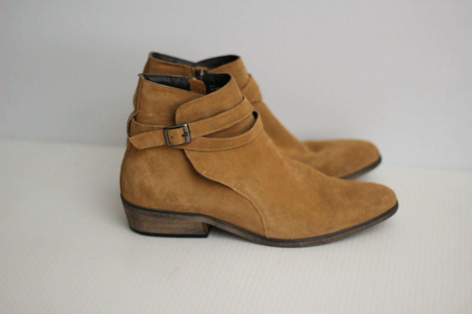 The Rail 'Seneca' Buckle Zip Up Up Zip Ankle Boot - Camel Tan Suede 7-7.5US / 41M (Y91) 9a1537