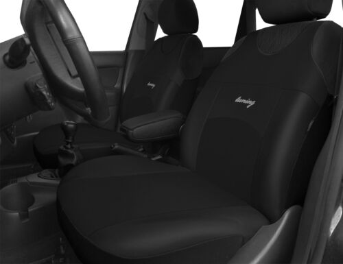 2 BLACK FRONT QUALITY CAR SEAT COVERS PROTECTORS FOR VOLVO V40