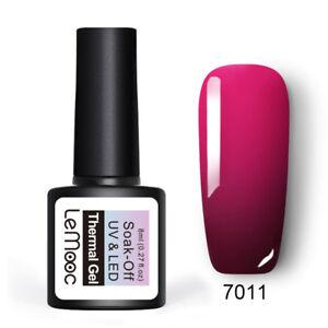 LEMOOC-8ml-Nagel-Gellack-Thermolack-Color-Changing-Soak-off-Nail-Art-UV-Gel-7011
