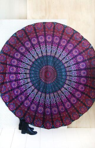 Indian Mandala Round Roundie Beach Throw Tapestry Hippie Yoga Mat Table Runner